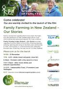 NZ farming film premiere, Wellington, November 25.